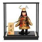 五月人形 真多呂 鍾馗 ケース飾り 武者人形 木目込人形飾り 真多呂作 古今人形 ケース付 h315-mtk-053