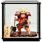 五月人形 真多呂 金太郎 ケース飾り 武者人形 真多呂作 ケース付 h025-mtk-3552-043