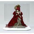 西洋人形 フランス人形 仏蘭西人形 ケース入り人形 寿喜代作 ビスクロマン ベルベット・エンジ アクリルケース付 sk-brk35
