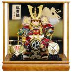 五月人形 子供大将飾り 武者人形 ケース飾り 高輝作 武者飾 6号 h285-fz-5-8585
