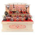 ショッピング雛人形 ひな人形 一秀 雛人形 収納飾り 三段飾り 十五人飾り 木目込み人形