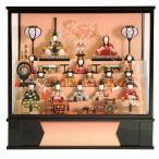 ショッピング雛人形 雛人形 一秀 ひな人形 雛 木目込人形飾り ケース飾り 五段飾り 十五人飾り 木村一秀作 平安雛 14-6号 h293-id-002