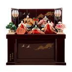 雛人形 ひな人形 吉徳 収納飾り 五人飾り 花ひいな 束帯十二単 h243-yscp-306383