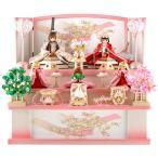 雛人形 リカちゃん 久月 ひな人形 収納飾り 三段飾り 五人飾り シリアル付 h313-ri-2766
