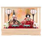 ショッピング雛人形 雛人形 コンパクト ひな人形 雛 ケース飾り 親王飾り 藤翁作 みゆき 豆親王 白 金襴仕立 オルゴール付 h293-fn-163-208