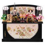 雛人形 久月 ひな人形 雛 コンパクト収納飾り 親王飾り 束帯十二単姿 花柄金彩衣裳 h303-kcp-s30303nr