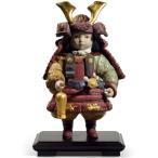 リヤドロ 五月人形 陶器 子供大将飾り 武者人形 Lladro 磁器人形 若武者60周年記念モデル 台座付 限定3500体 h285-01013045