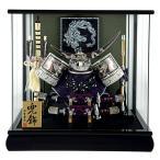五月人形 伊達政宗 兜ケース飾り 兜飾り 宝童監修 銀彫金伊達兜 10号 パノラマケース h305-mm-175