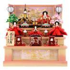 ショッピング雛人形 雛人形 久月 ひな人形 コンパクト収納飾り 三段飾り 五人飾り 金彩熨斗目 束帯十二単姿 h283-kcp-s28291nr