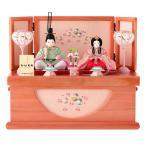 ひな人形 雛人形 木目込み 親王飾り 収納飾り コンパクト ひなもも h283-mi-kt-ns317