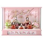 ひな人形 雛人形 一秀 木目込み コンパクト ケース飾り 五人飾り 安土雛 h283-sm-28-3-18