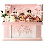 ショッピング雛人形 ひな人形 雛人形 コンパクト 収納飾り 親王飾り 平安義正作 パールピンク 限定品 h283-sw-sn16-s003