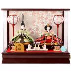 ひな人形 雛人形 コンパクト 吉徳大光 親王飾り ケース飾り h283-yscp-322064