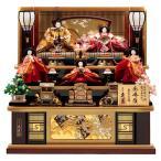 雛人形 久月 ひな人形 三段飾り 五人飾り 秀峰雛 西陣織金襴 十番親王 三五官女 駿河古典蒔絵 h293-k-1027 D-9