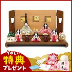 ショッピング雛人形 雛人形 真多呂 ひな人形 雛 木目込人形飾り 段飾り 五人飾り 真多呂作 古今人形 咲良 官女付 入れ目 h293-mt-1371
