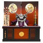五月人形 久月 伊達政宗 兜収納飾り 銀小札正絹黒糸縅 h295-kcp-1047nr