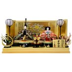 雛人形 久月 ひな人形 雛 平飾り 親王飾り 華節の宴 小十番親王 檜製 駿河古典蒔絵 久月オリジナル頭 h303-k-2058 K-15