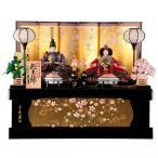 雛人形 久月 ひな人形 雛 コンパクト収納飾り 親王飾り 束帯十二単姿 花柄友禅衣裳 h303-kcp-s30124nr