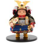 五月人形 幸一光 松崎人形 子供大将飾り 人形単品 星丸 ほしまる 黒小札 青糸威 h025-koi-511a