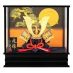 五月人形 久月 兜ケース飾り 松に満月 h315-kcp-k51669nr