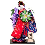日本人形 尾山人形 人形単品 寿喜代作 藤娘 友禅 10号 sk-o1426