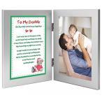 ショッピングDaddy New Father Christmas Gift - Christmas Poem From Baby to Daddy - Add Photo to Frame 正規輸入品