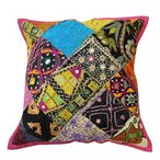 インテリア クッションカバー 40x40cm D?cor Ative Sofa Cushion Covers Indian Cushion Cover Kutch Embroidered Pillow 18X18 Inches