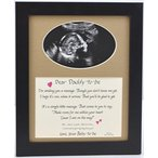 ショッピングDaddy Daddy to Be Ultrasound Picture Frame 8X10 Desktop Sonogram Gift, Dad Father, Choose Your Mat Color and Frame - Black Frame & Burlap Mat 正規輸入品