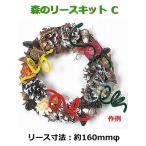 【5個以上お買い上げでボンド1本プレゼント】手作りクリスマスリースキット 森のリースキット C