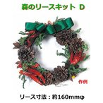 【5個以上お買い上げでボンド1本プレゼント】手作りクリスマスリースキット 森のリースキット D