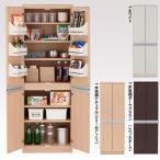 幅60.5cm キッチンストッカー 上下扉分割タイプ 食品収納庫 完成家具 食品 収納 買い置き   本州と四国は開梱設置料込み