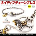 シルバーブレスレット ネイティブアメリカン チェーン イーグル ブレスレット メンズ b0676 腕周り約15cm〜16.5cm