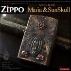 送料無料  ZIPPO ジッポ ライター シルバー アンティーク マリア スカル メンズ so0522