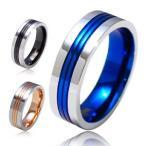 Rings - \メール便なら送料無料!/ステンレスリング 指輪 ブルー・青 ローズゴールド ブラック sr0089