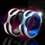 戒指 - \メール便なら送料無料!/ステンレスアクセサリー リング・指輪 メンズ・レディース ブルー・ブラック sr0096