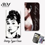 iPhone7Plus iPhone7 iPhone6 6s 6plus カバー 手帳型ケース 「Audrey Hepburn オードリー・ヘップバーン オードリー カワイイ」 手帳ケース レザー