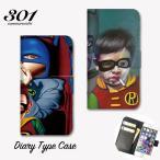 iPhone7 iPhone7Plus iPhone6 6s 6plus カバー 手帳型ケース 蝙蝠男 バットマン かわいい ロビン タバコ