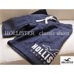 ショッピングホリスター ホリスター HOLLISTER ( XS )サイズ ネイビー クラッシックフィット ショートパンツ newロゴ ホリスター 部屋着 ジム トレーニング
