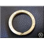 KC,s  ケイシイズ   真鍮  金色   平型キーリング  レーザー刻印 / ケーシーズ・ブランドキーホルダー ・ベルトループパーツ