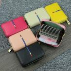 カードケース 高級本革製 14枚収納 全6色 磁気防止 ラウンドファスナー 薄型 スリム カード入れ 男女兼用 kk1807