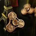 無料でもらえるチャンス ハンドスピナー Hand spinner アメリカン 銅コイン 金属製 三枚羽 指スピナー ゴールド