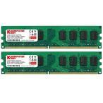 Komputerbay 4GB 2 X 2GB DDR2 800MHz PC2-6300 PC2-6400 DDR2 800 (240 PI