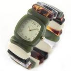 Time Will Tell タイムウィルテル(タイムウイルテル) 腕時計 モスグリーン&レインボー バングルブレスウオッチ Multi-MSRA