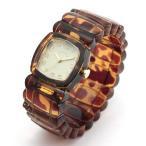Time Will Tell タイムウィルテル(タイムウイルテル) 腕時計 トータス(べっ甲)柄 バングルブレスウオッチ Solid-TO(I) アイボリー文字盤