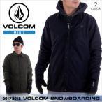 17-18 VOLCOM スノーウェア メンズ SKINDAWG JACKET 2017-2018 秋冬 G0151805 ブラック/グリーン XS/S/M/L/XL