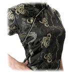 激安・チャイナドレス・コスプレ・袖付ロング・薔薇(黒)【Mサイズ】華やかでかわいい薔薇柄。韓流よりも中国ブーム!?送料無料。