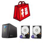 福袋2019 玄人志向 HDDx2ケース&WD Purple NV 4TB HDD2台+おまけ3点 GW3.5ACX2-U3.1AC WD4NPURX
