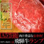 肉汁豊富な赤身肉 ステーキ の王道 飛騨牛 【 A5等級 】 ランプ 100g×5枚入り