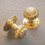 真鍮製ドアノブ  ヴィクトリアン パンプキン 空錠タイプ