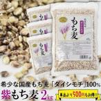 送料無料 紫もち麦 2kg 500g×4 国産 ダイシモチ 食物繊維 ポリフェノール β-グルカン 自然食品 大麦 押し麦